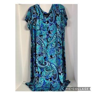 Cynthia Rowley Curve Floral Shift Dress 1X New